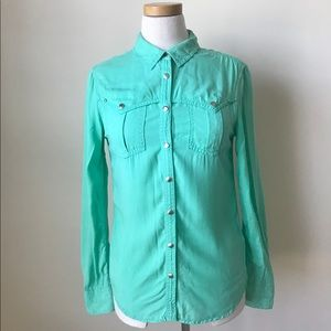 Anthropologie | Holding Horses Button Down sea